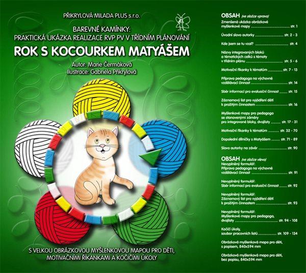 Barevné kamínky - Rok s kocourkem Matyášem - pevné desky, barevná, formát A4