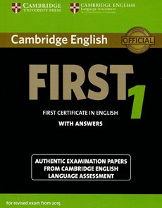 Cambridge English First 1 for exam from 2015 Student's Book with answers