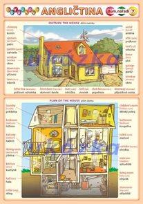 Obrázková angličtina 7 - dům, nářadí ( A5, 2 strany)