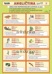 Angličtina karty 2 - nepravidelná slovesa - skládanka lamino