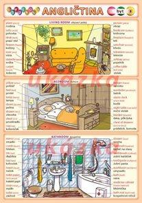 Obrázková angličtina 8 - byt ( A5, 2 strany)