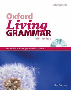 Oxford Living Grammar elementary with answers + CD-ROM