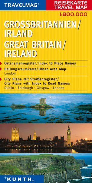 Velká Británie, Irsko - mapa Kunth 1:800 000.