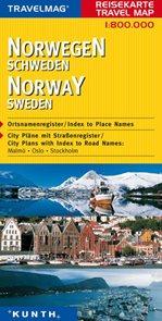 Norsko, Švédsko - mapa Kunth - 1:800 000t.