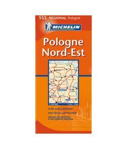 Polsko - severovýchod - mapa Michelin č.555 - 1:300 000