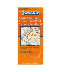 Švýcarsko - jihozápad - mapa Michelin č.552 - 1:200 000