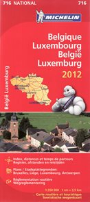 Belgie, Lucembursko - mapa Michelin č.716 - 1:350 000