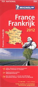 Francie - mapa Michelin č.721 - 1:1 000 000