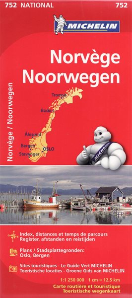 Norsko - mapa Michelin č.752 - 1:1 250 000