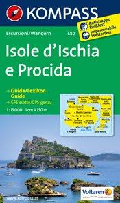 Itálie - Ischia - mapa Kompass č.680 - 1:15t