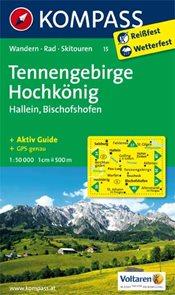 Tennengebirge, Hochknig - mapa Kompass č.15 - 1:50t /Rakousko,Německo/