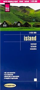 Island - mapa Reise Know-How 1:425t.