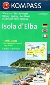 Isola d´Elbamapa Kompass -  č.2457 - 1:25 000 /Itálie/