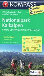 NP Kalkalpen, Ennstal, Steyrtal, Pyhrn-Priel-Region - mapa Kompass č.70 - 1:50 000 /Rakousko/