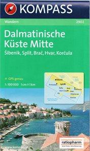Chorvatsko - Dalmácie - střed - mapa KOM2902 1:100