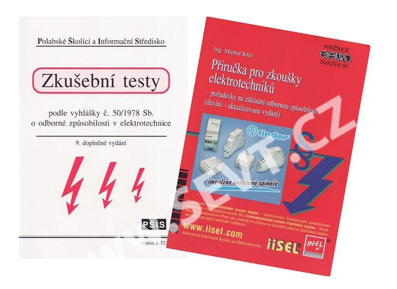 vyhláška 50 komplet příručka pro zkoušky elektrotechniků zkušební testy