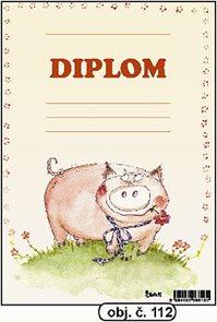 Diplom A5 - Prasátko se čtyřlístkem