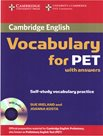 Cambridge English Vocabulary for PET with answers + audio CD