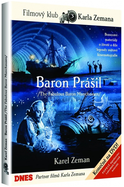 DVD Baron Prášil - Karel Zeman - 13x19