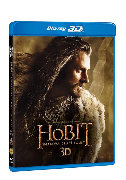 Hobit: Šmakova dračí poušť 3D + 2D 4 Blu-ray - 13x19