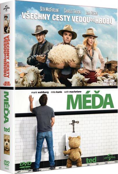 2 DVD Kolekce: Méďa / Všechny cesty vedou do hrobu - Seth MacFarlane - 13x19
