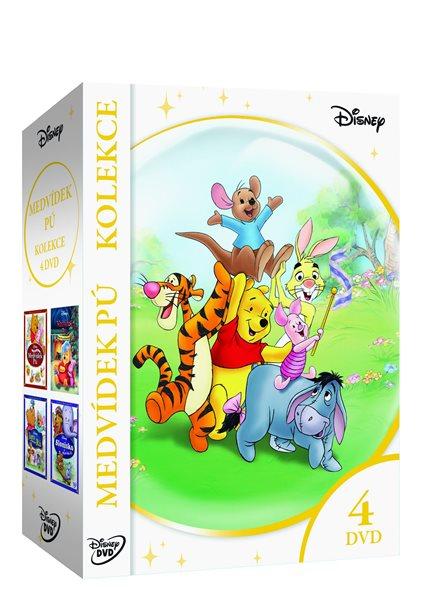 Medvídek Pú kolekce 4 DVD - 13x19