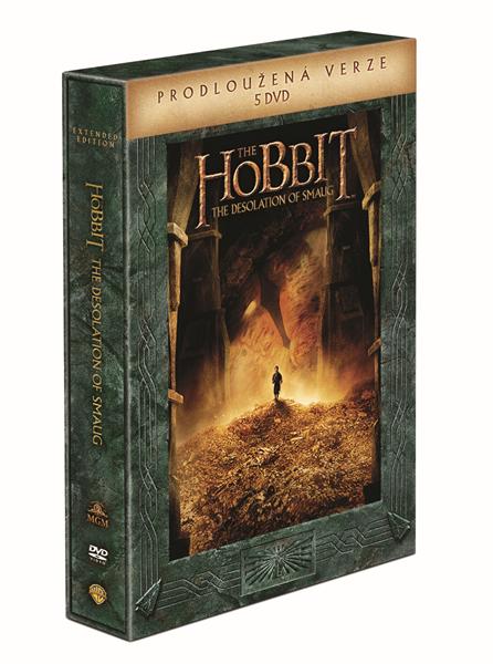 Hobit: Šmakova dračí poušť - prodloužená verze 5 DVD - Peter Jackson - 13x19