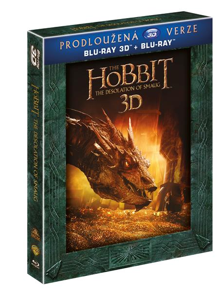 Hobit: Šmakova dračí poušť - prodloužená verze 5BD (3D+2D) - Peter Jackson - 13x19