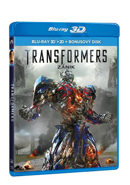 Transformers: Zánik (3 Blu-ray 3D + 2D + bonus BD) - Michael Bay - 13x19
