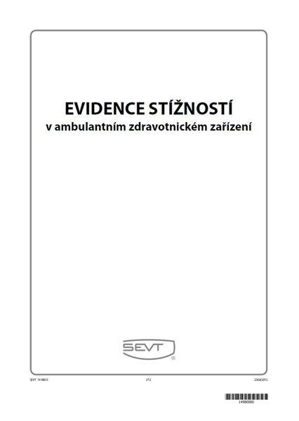 Evidence stížností v ambulantním zdravotnickém zařízení - sešit A4, 16 listů