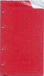 ADK Dělící listy s čísly červené A5 (12 ks)