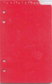 ADK Dělící listy s čísly červené A6 (12ks)