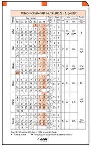 ADK Plánovací kalendář A5 2022 (1 list)