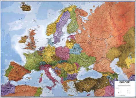 Evropa - politické rozdělení 1:4,2 mil nástěnná mapa - 136x98 cm
