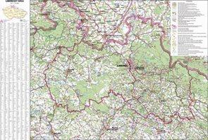 Kraj - Liberecký -ZES- 1:110 000 - nástěnná mapa