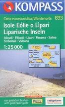 Itálie - Líparské ostrovy - mapa Kompass č.693 - 1:25t