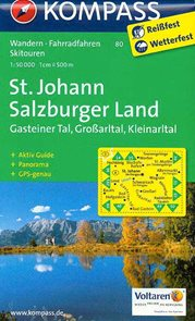 St.Johann, Grossarltal, Kleinarltal, Hochkonig, Tennengebirge - mapa Kompass č.80 - 1:50t /Rakousko/