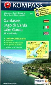 Lago di Garda, Monte Baldo - mapa Kompass č.102 - 1:50t /Itálie/