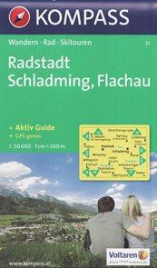 Radstadt, Schladming, Flachau - mapa Kompass č.31 - 1:50t /Rakousko/