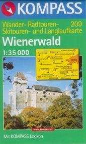Wienerwald - mapa Kompass č.209 - 1:35t /Rakousko/