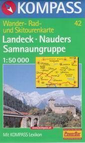 Landeck, Nauders, Samnaungruppe - mapa Kompass č.42 - 1:50t /Rakousko,Itálie,Švýcarsko/