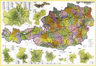 Spediční - Rakousko - 1:500 000 - nástěnná mapa /ZES-Freytag/