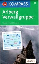 Arlberg,Verwallgruppe - mapa Kompass č.33 - 1:50t /Rakousko,Německo/
