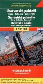 Chorvatsko - pobřeží - mapa Freytag - 1:200 000