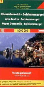 Rakousko - Obersterreich, Salzkammergut - mapa Freytag č.2 - 1:200 000