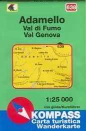 Adamello, Val di Fumo, Val Genova - mapa Kompass č.638 - 1:25t /Itálie/