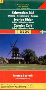 Švédsko -1- jih - mapa Freytag - 1:250 000
