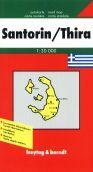 Řecko - Santorin - mapa FR 1:3