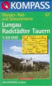 Lungau, Radstadter Tauern - mapa Kompass č.67 - 1:50t /Rakousko/