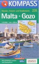 Malta, Gozo - mapa Kompass č.235 - 1:25t